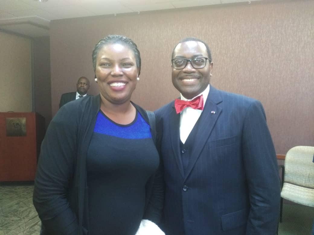 Dr Osuntade With ADB President Akinwumi Adesina
