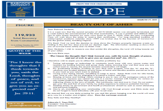 Hope Digest From the Office of the Vice Chancellor