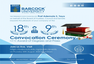 18th Undergraduate and 9th postgraduate Convocation