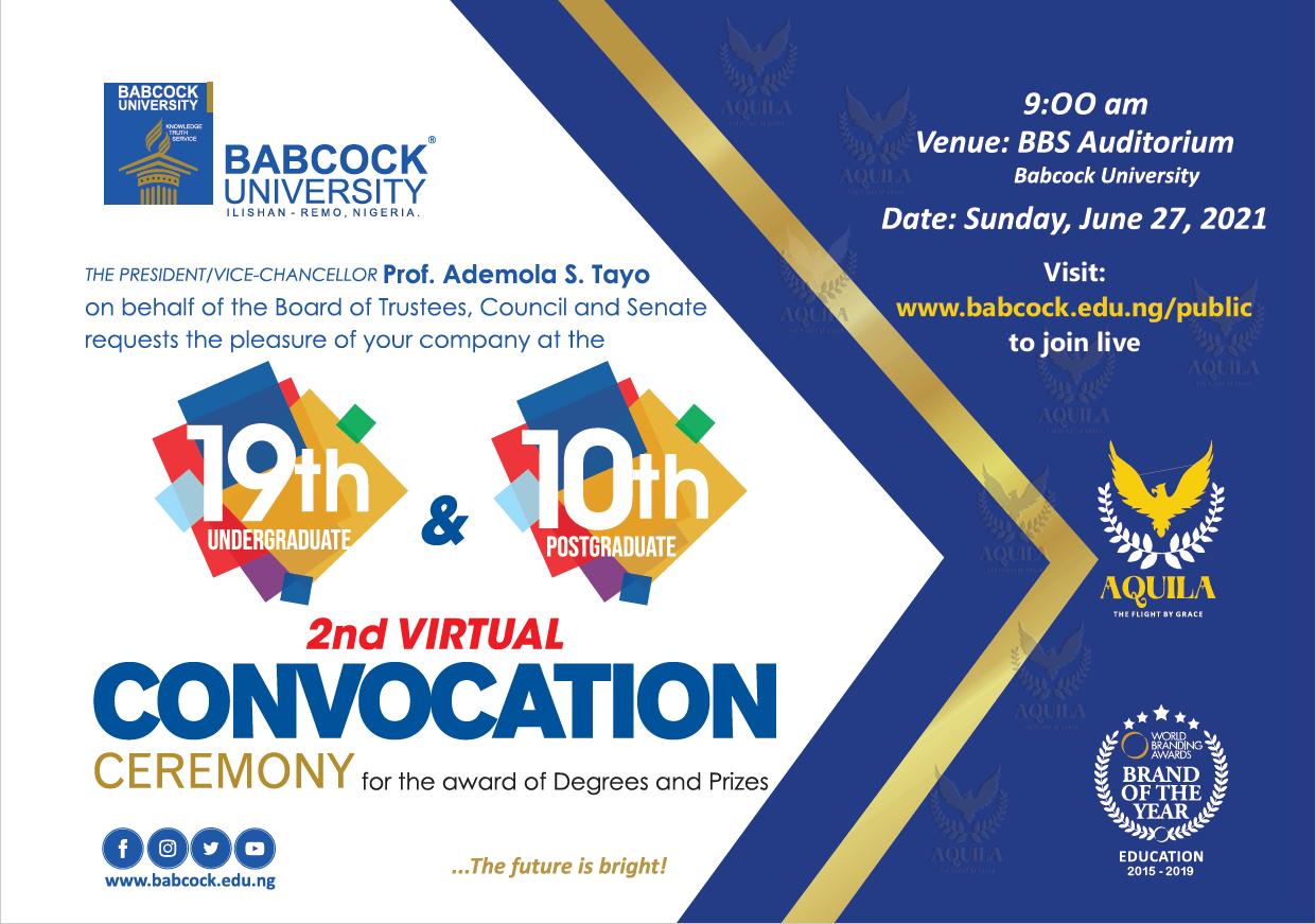 19th Undergraduate and 10th Postgraduate Convocation 2021
