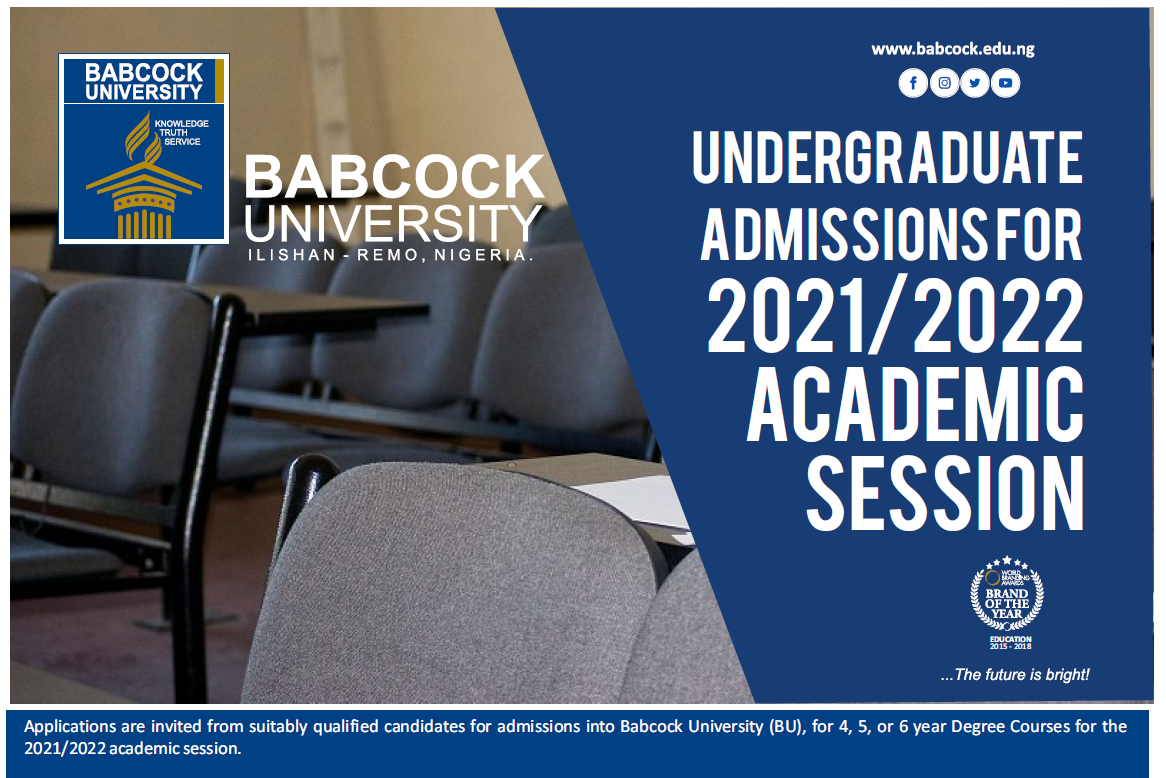 Undegraduate Admissions for 2021/2022 Academic Session