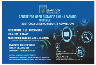 Babcock University Center for Open Distance and E-Learning Begin Fully