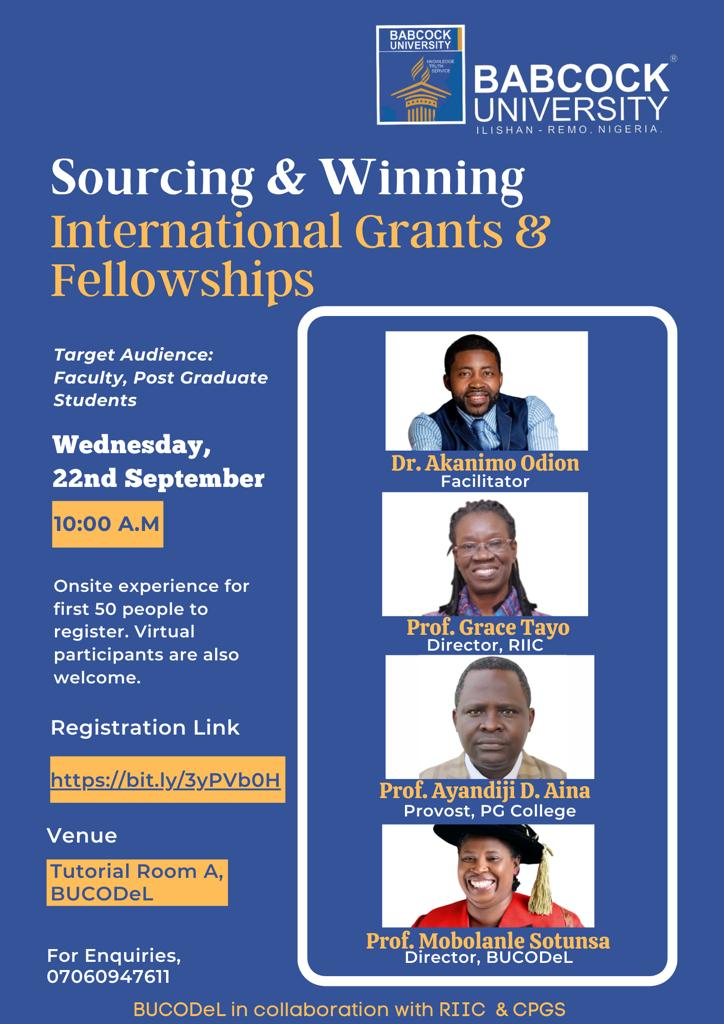 Sourcing and Winning international Grants and Fellowships