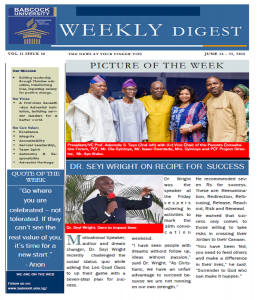 Babcock News Digest Volume 11 Issue 16